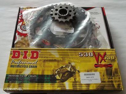 Kit Transmissao Corr. DID X-ring dourada Honda CB 1000 de 1993 a 1998