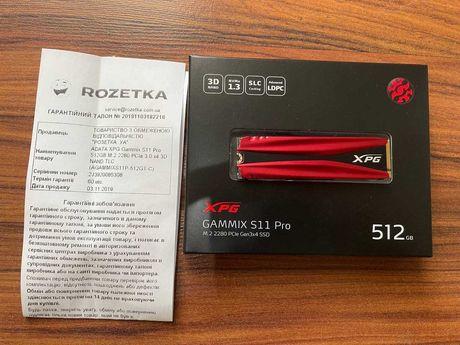 SSD m.2 накопитель ADATA XPG Gammix S11 Pro 512 GB