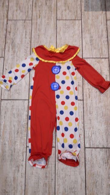 Костюм клоуна на Хеллоуин на 1-2 года