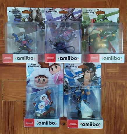Amiibos Super Smash: Wolf/Ridley/King Krool/Ice Climbers/Richter