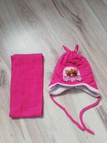 Czapka i szalik dla dziewczynki