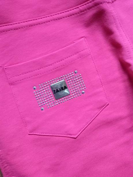Nowe legginsy ZARA różowe