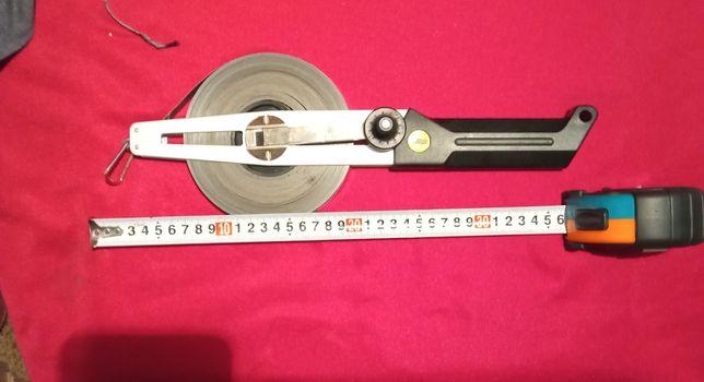 Геодезическая спортивная рулетка. 50 метров.