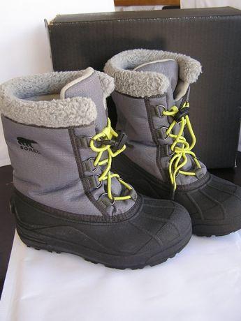 Buty zimowe SOREL śniegowce roz. 33 Bardzo ciepłe: do -30 stopni!