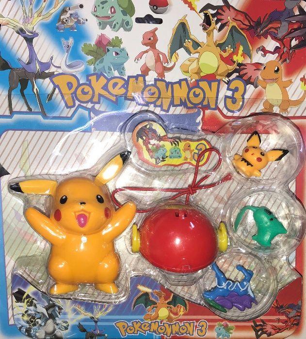 Zestaw Figurek Pokemon Pokebol + 3 minifigurki