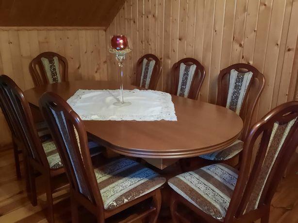 Stół dębowy + 8 krzeseł