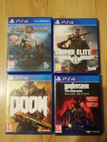 God of war, Doom,Wolfenstein Youngblood