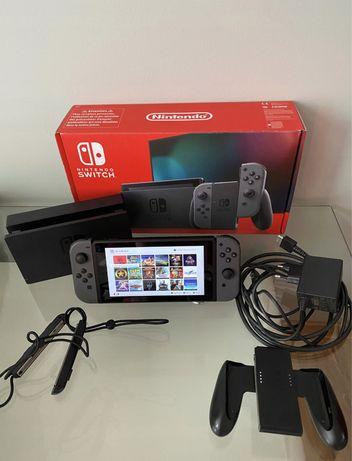 NINTENDO SWITCH 400GB szary V2 + Mario + Pokemon + 57 PEŁNYCH GIER