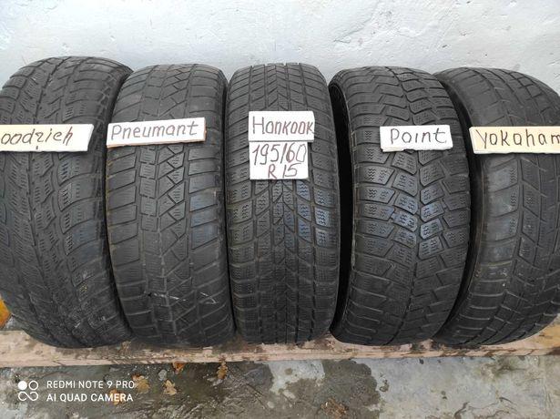 шины б у 195 /60 R15 всесезонные одиночки распродажа с Германии