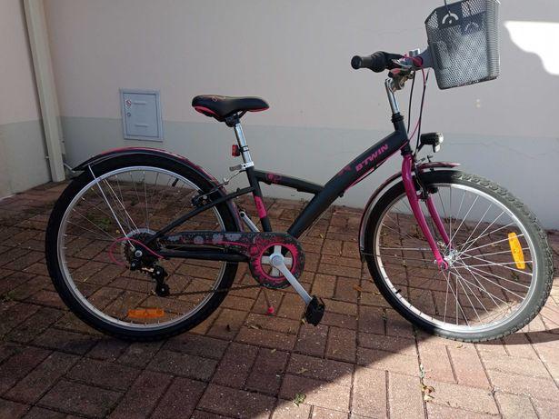 Bicicleta menina B-TWIN PoPly 500 roda 24