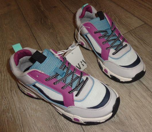 Фирменные кроссовки ZARA Испания для девочки, р. 36