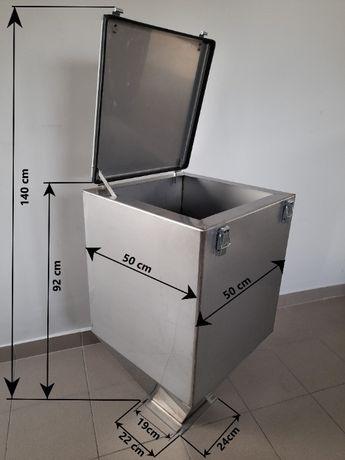 ZASOBNIK pojemnik zbiornik kosz nierdzewny na ekogroszek dostaw.GRATIS