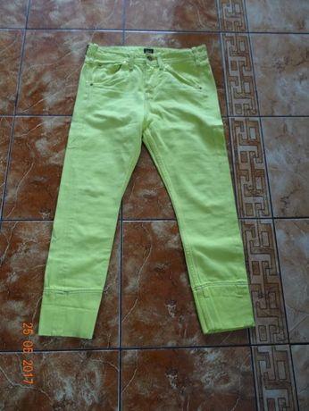 jeansy cytrynowe Lee