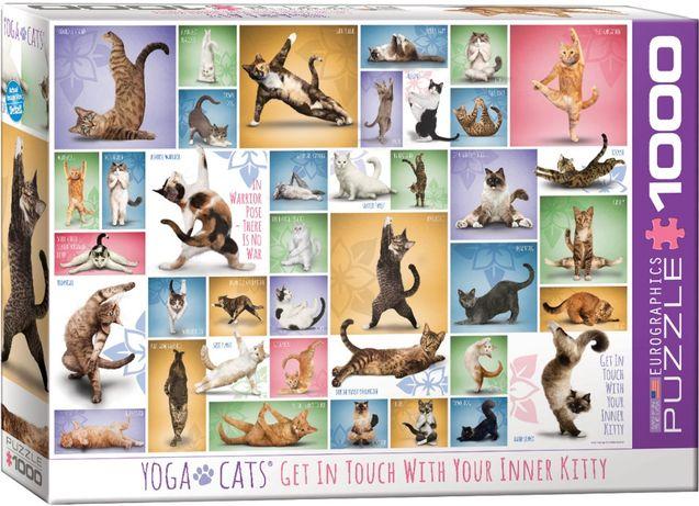 Puzzle Eurographics 1000 Peças 0953 Yoga Cats - NOVO