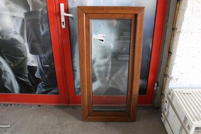 okno pcv złoty dąb 80x130 tanio nowe