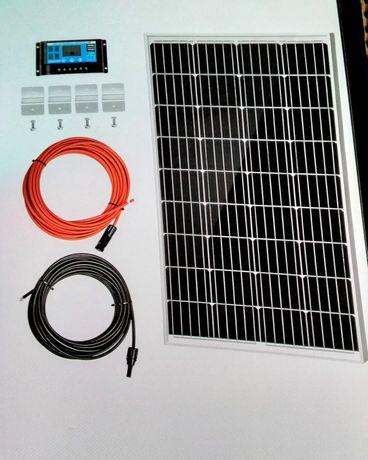 KIT c/painel solar mono 100W