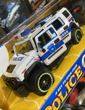 Машина полицейский Джип 6688-107A на пульте управления