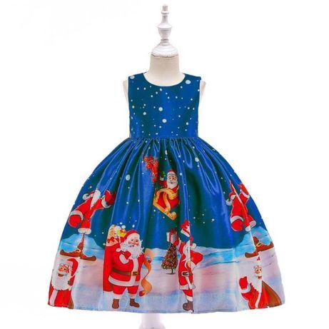 Vestido encantado PAI NATAL - Tamanhos 110 e 120cm - 4 a 7 anos - NOVO