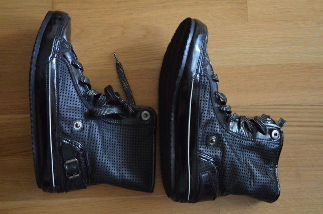 Ботинки кожаные, черные, размер 37
