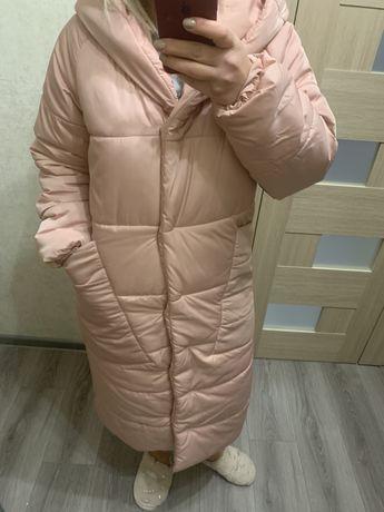 Пальто- одеяло, женский красивый пуховик размер М