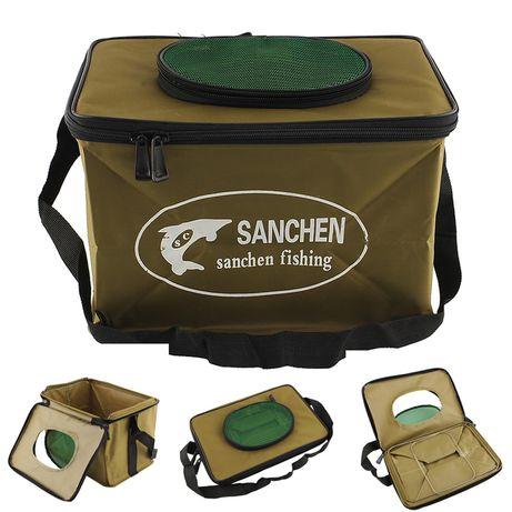 Сумка для рыбы сумка для замеса прикормки ведро складное для рыбалки