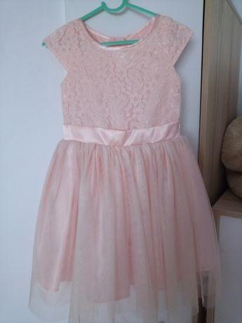 Sukienka Smyk rożowa/ łososiowa święta wesele ślub