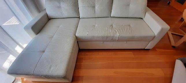 Sofá Chaise-longue, com cama, Ragunda -Ikea.