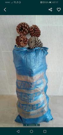 Sacos de pinhas com 10 a 12 kGS