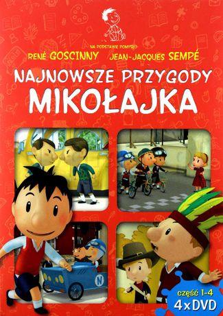 Najnowsze przygody Mikołajka Pakiet 4 x DVD NOWE folia Mikołajek