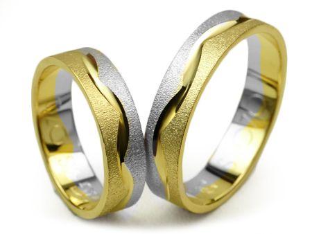 Złote Obrączki Ślubne 585 S070 Jubiler Goldrun