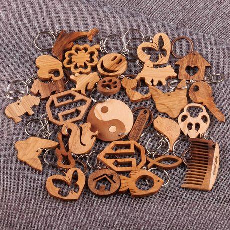Брелоки (брелки) ручной работы из дерева готовые и на заказ