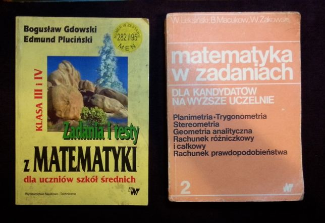 Matematyka podręczniki zbiór zadań stare wydania 7 szt.
