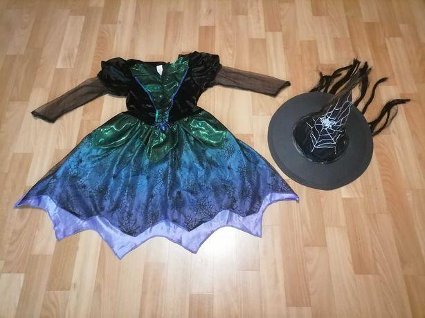 Карнавальный костюм ведьмы платье волшебница  колдунья Хеллоуин