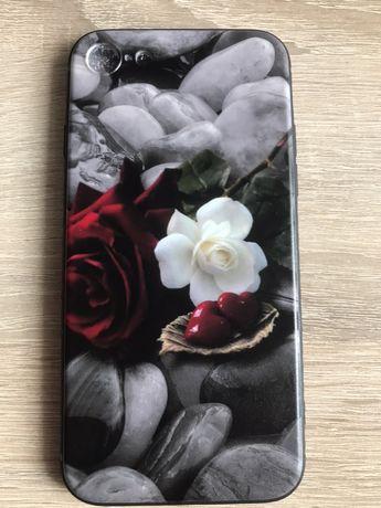 Obudowa Slim Case Etui iPhone 7 8 pokrowiec  Serce Róża Kamienie
