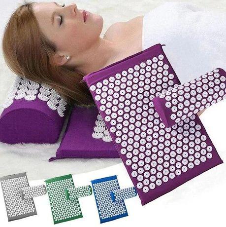 Коврик ортопедический массажный с подушкой