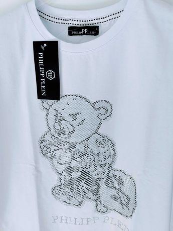T-shirt damski Philipp Plein cyrkonie