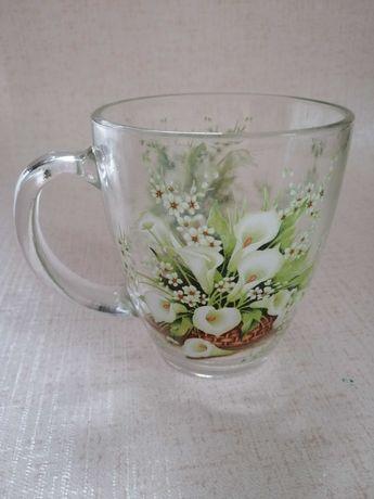 Кружка чашка стеклянная стакан