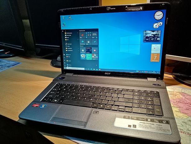 Acer 17,3, i5, 8GB RAM, SSD 256GB NOWY Goodram, Laptop Aspire 7740