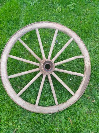 Koło od wozu drewniane stare antyk