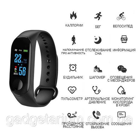 Фитнес трекер, браслет M3 Аналог Xiaomi Mi Band 3 Smart Watch