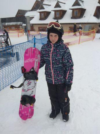 spodnie, kurtka narciarska snowboardowe dziewczęca