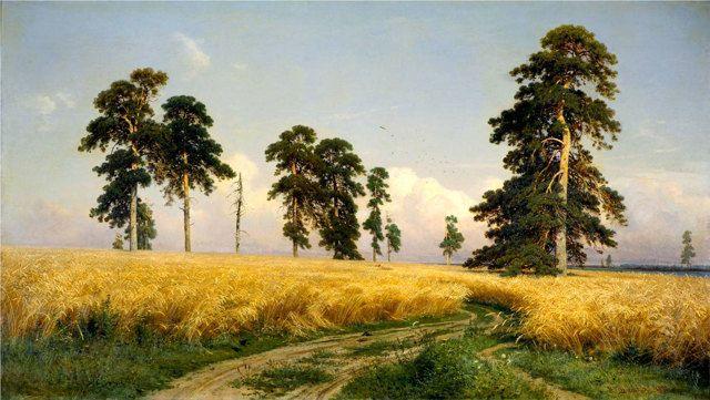 Репродукция картины Шишкина И.И. «Рожь»