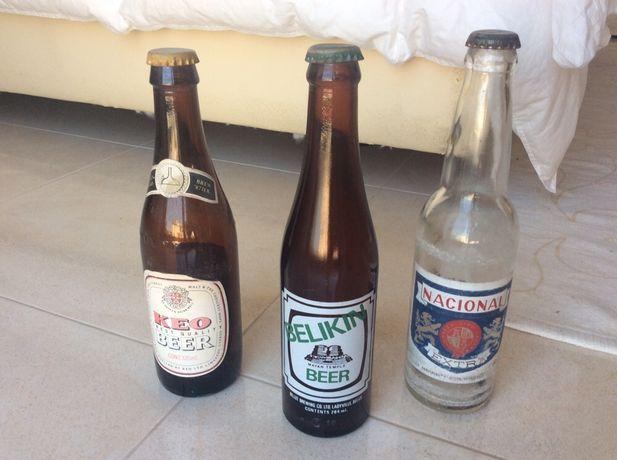 Estrangeira Garrafas de cerveja vasias - para colecionadores