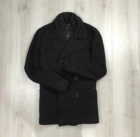 Пальто шерстяное шерсть овечья wool мужское классическое Next зимнее