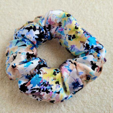 Nowa jedwabna gumka do włosów Scrunchie Lady Foryou