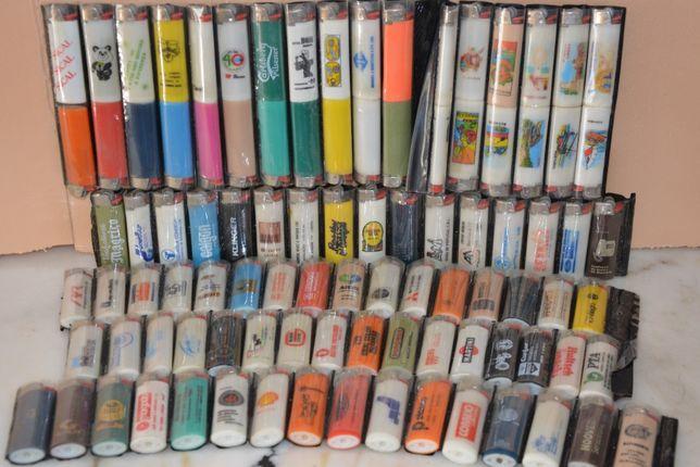 Coleção isqueiros Bic com publicidade