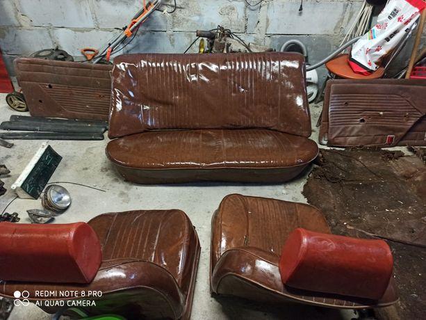 Fotele komplet Fiat 125 p MR brąz Oryginał