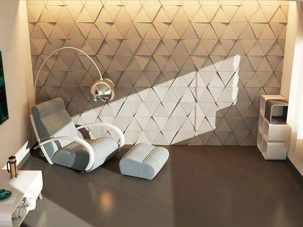 Panele ścienne 3D trójkątne gipsowe 7 m2
