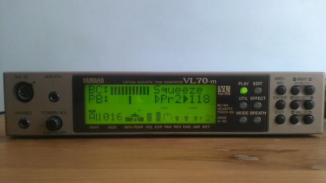 Syntezator Yamaha VL 70-m +,WX 7,WX 11