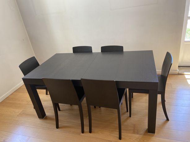 Mesa de jantar e cadeiras (conjunto de 6)